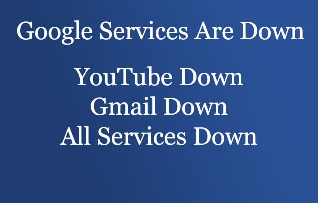 Read more about the article Google Service is Down Gmail YouTube Down